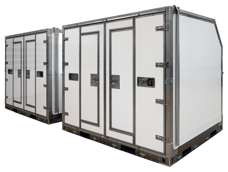 Two DBJ-sized multimodal rapid deployment containers